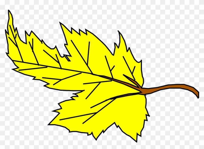 Fall Yellow Leaf Cartoon Plant Falling Leaves Jrekuw - Yellow Leaf Clip Art #44313