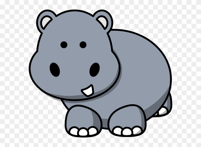Awesome Idea Hippo Clip Art Side At Clker Com Vector - Cute Drawings Of Hippos #44347