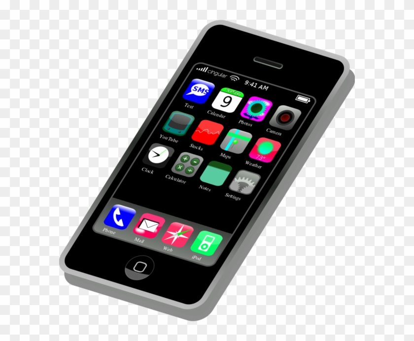 Smartphone - App - Clipart - Cell Phone Clipart #241292