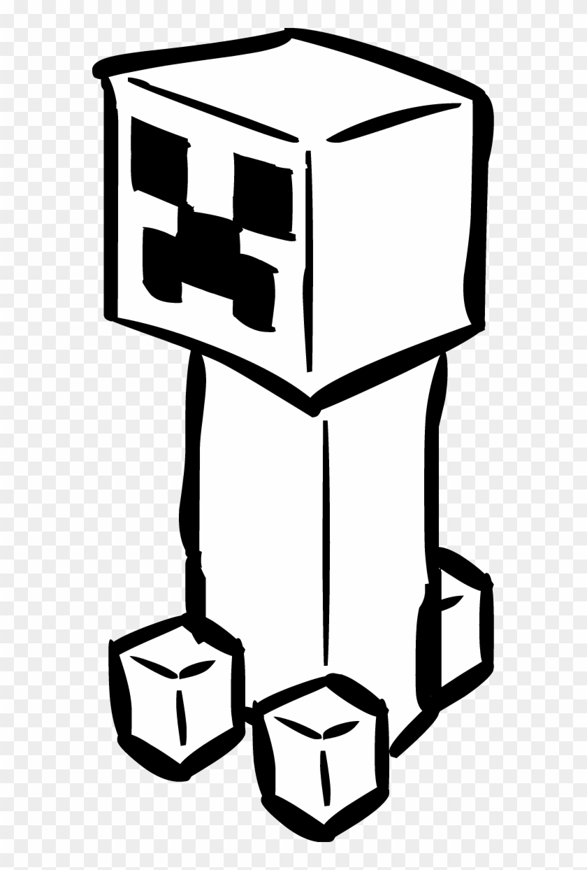 Minecraft Clipart Black And White Black And White Minecraft