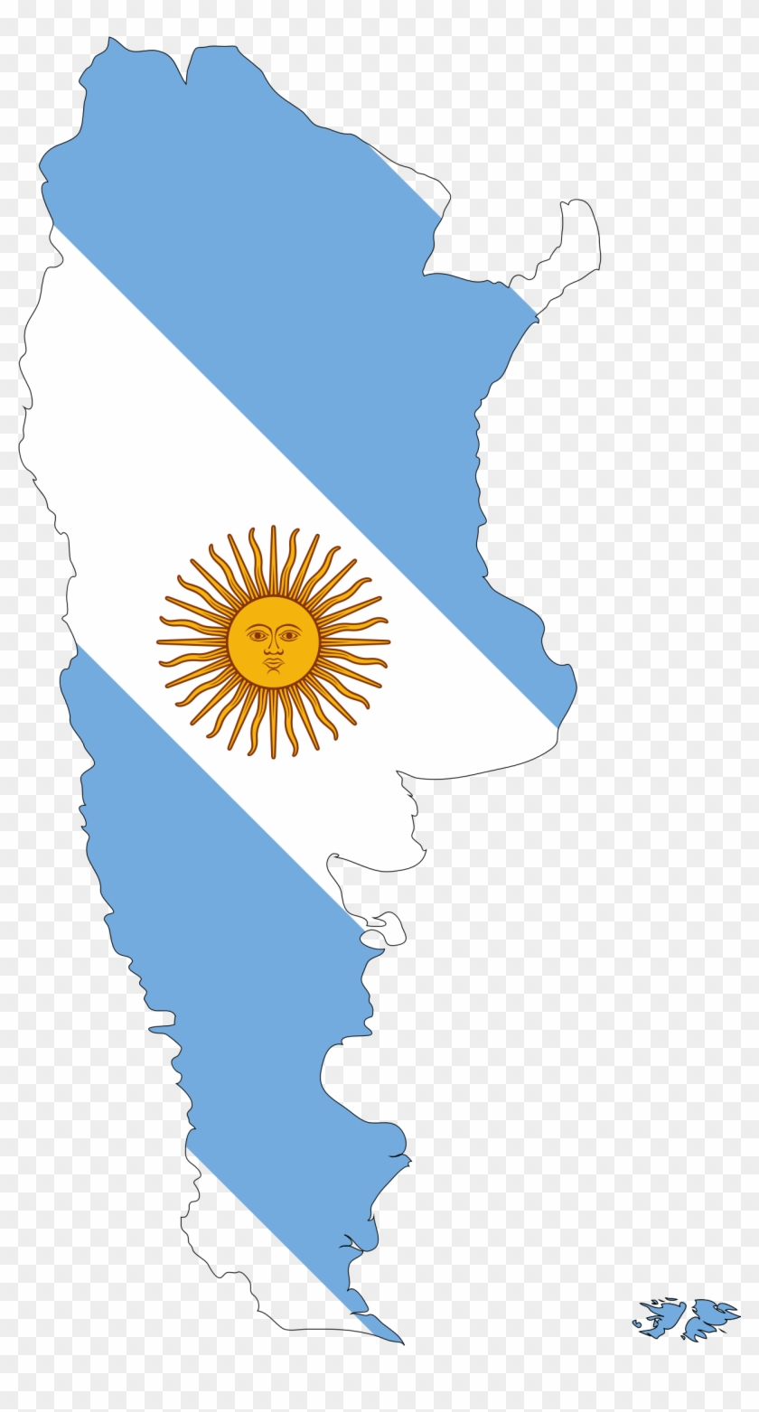 Argentina Map Clipart - Map And Flag Of Argentina - Free Transparent ...