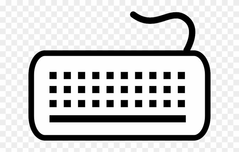 White Computer Black Keyboard Symbol White Keyboard Clipart