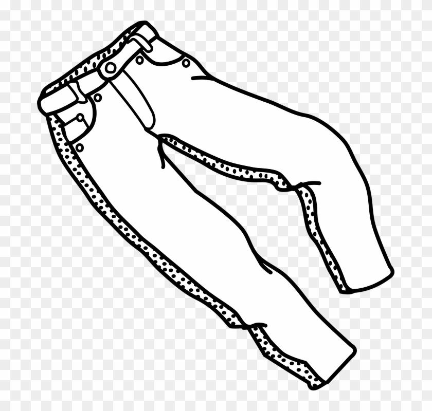 Jeans Clipart Coloring - Levi Jeans Clip Art #242076