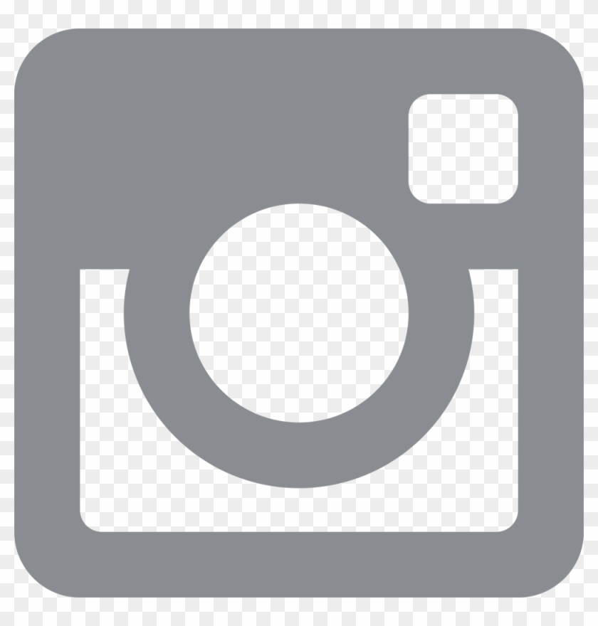 Instagramm Clipart Gray - Transparent Background White Instagram Logo #242091