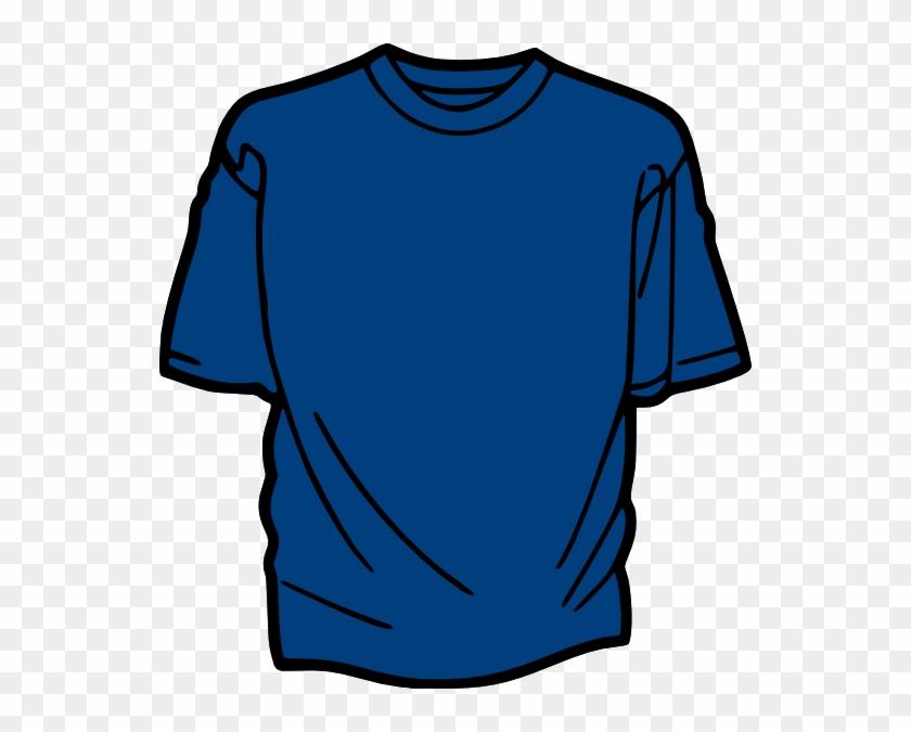 T Shirt Template Blue Clip Art