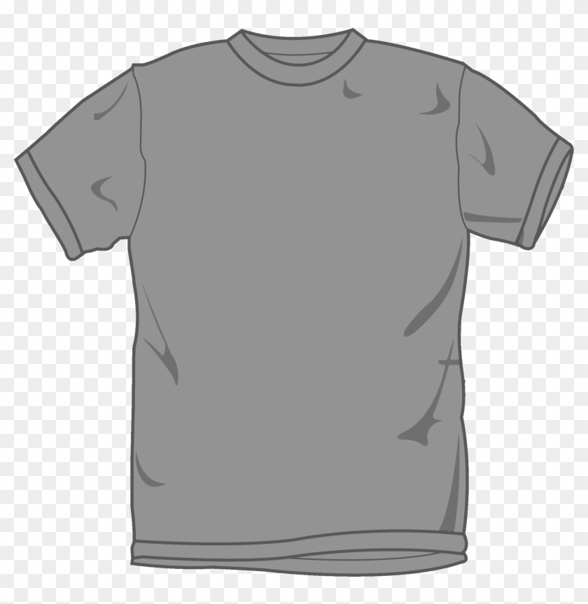 Grey T Shirt Template - Grey T Shirt Template Png #242208