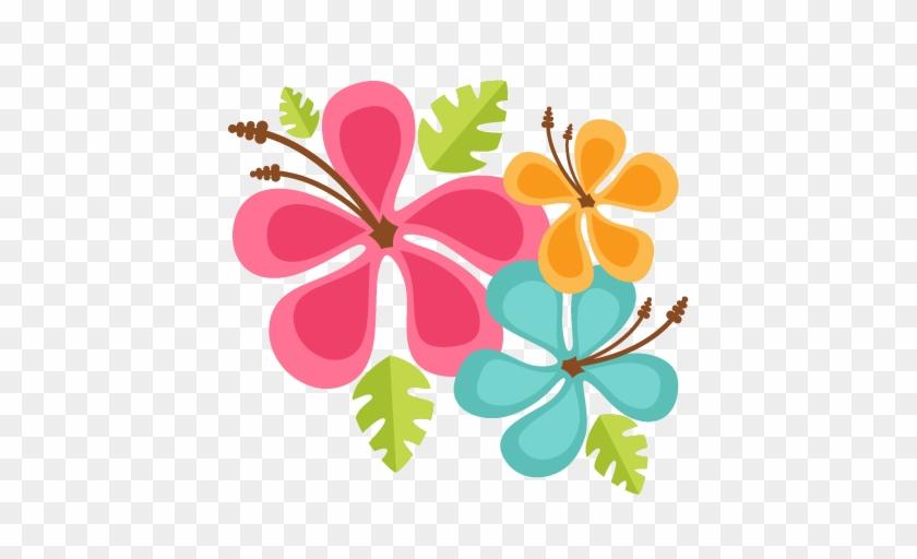 Hawaiian Flowers Scrapbook Cut File Cute Clipart Files - Hawaiian Flowers #242223