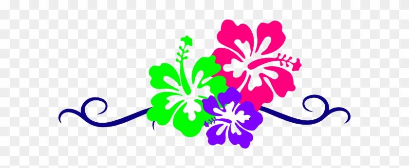 Hawaiian Flower Border Clip Art - Luau Flowers Clip Art #242232
