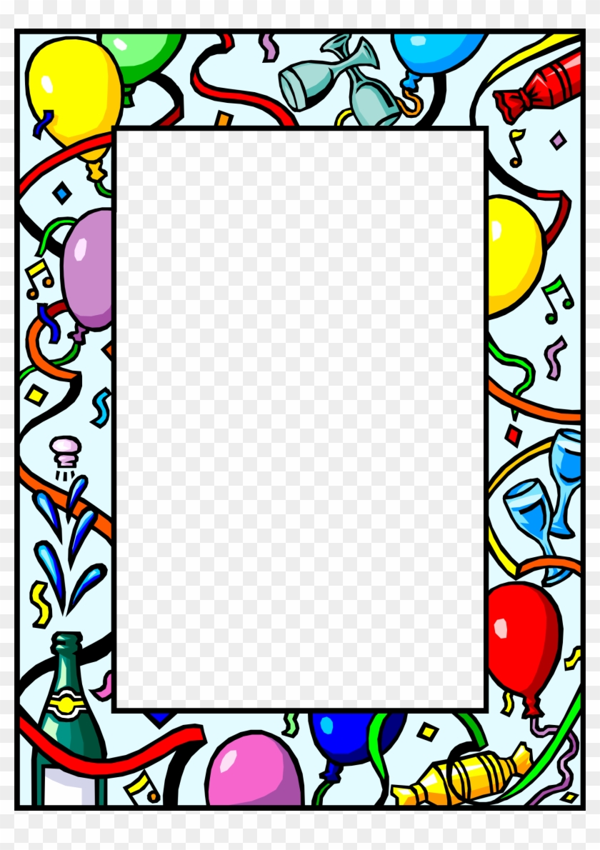 New Year Frame New Years Eve Border Word Free Transparent Png