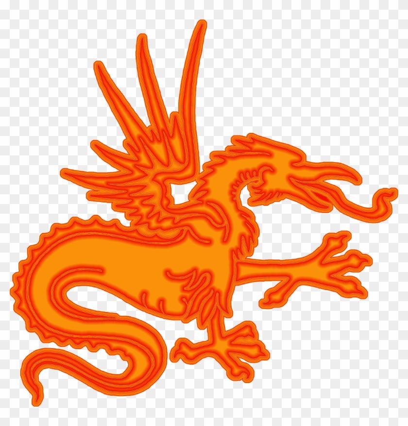 Chinese Dragon Clipart Orange - Chinese Dragon #242907