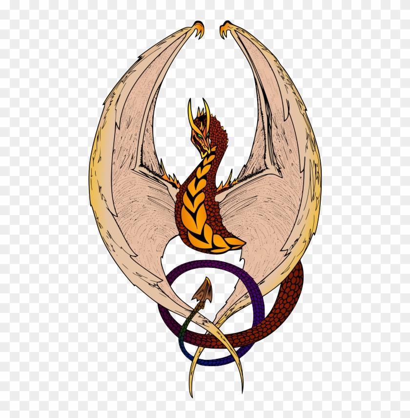Free Wyvern Free Dragon Passant - Vintage Dragon Illustration Large Tote Bag, Natural, #242914