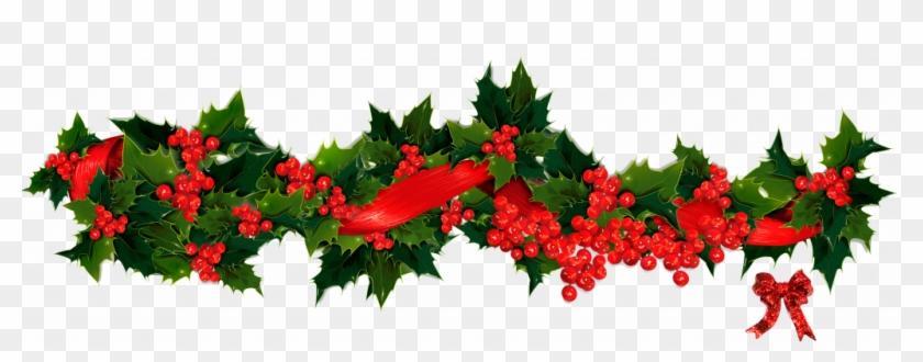 Christmas ~ Phenomenal Christmas Wreath Clip Art Images - Christmas Holly Garland Clip Art #243026