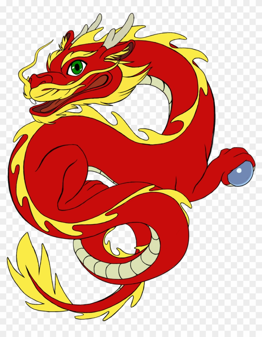 Wanderingdragon379 Chibi-esque Chinese Dragon By Wanderingdragon379 - Clipart Dragon Chinese Red #243033