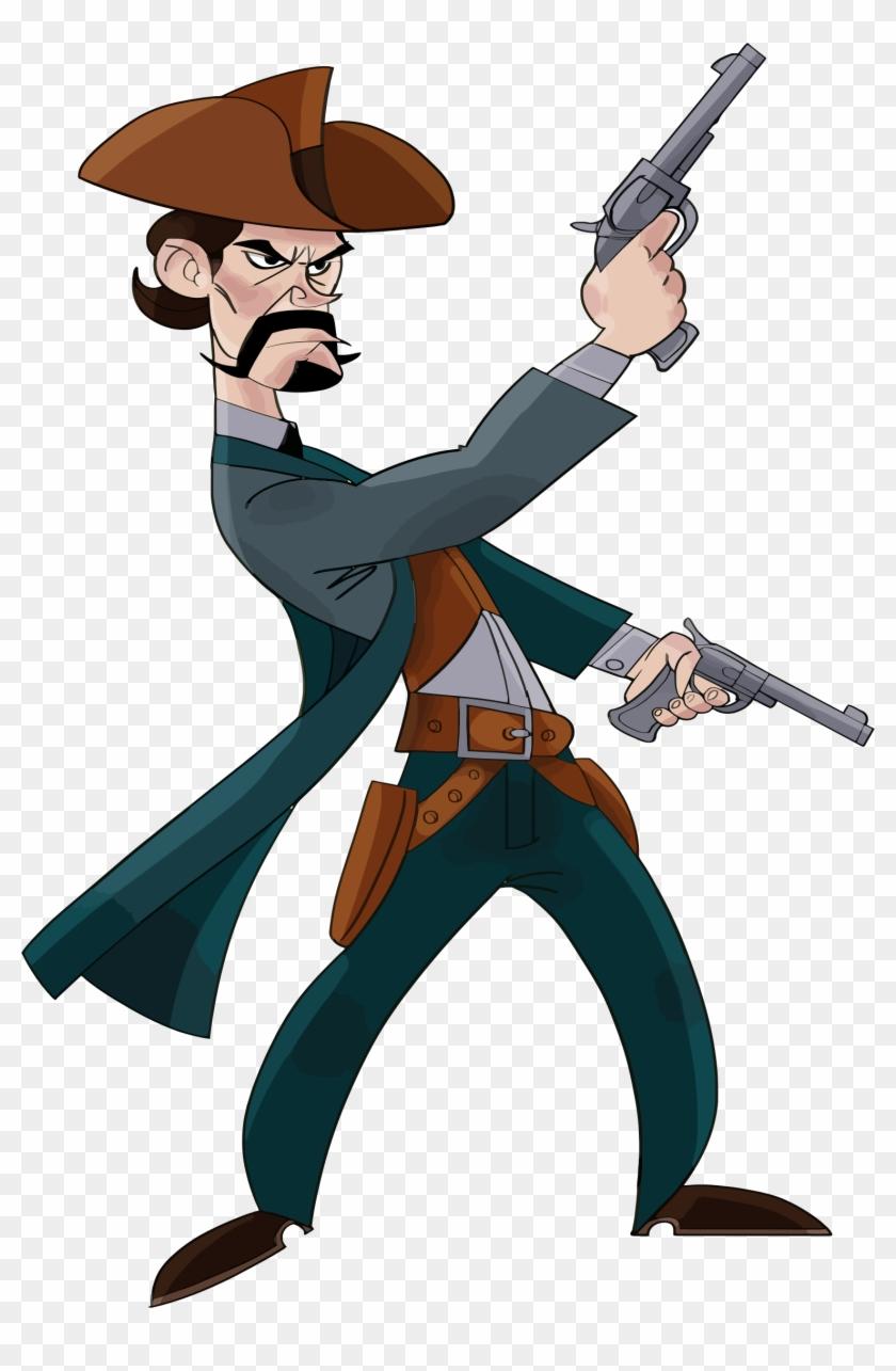 Big Image - Wild West Cowboy Cartoon #243188