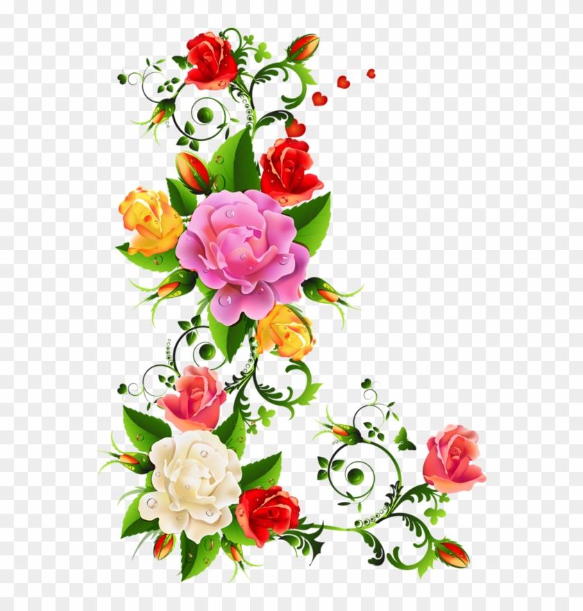 Roses - Elegant Floral Border Design #243282