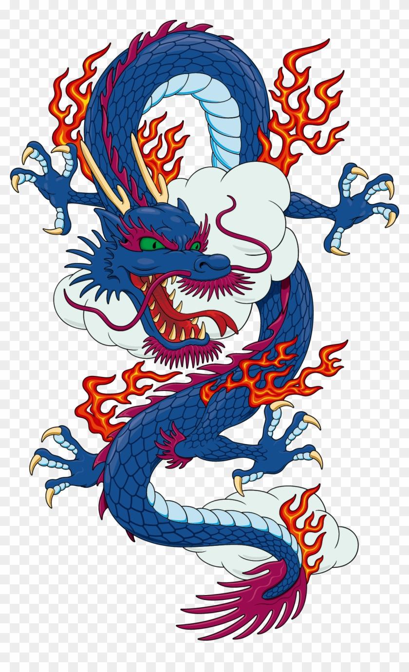 T-shirt Chinese Dragon Japanese Dragon - Japanese Vector Dragon Png #243328