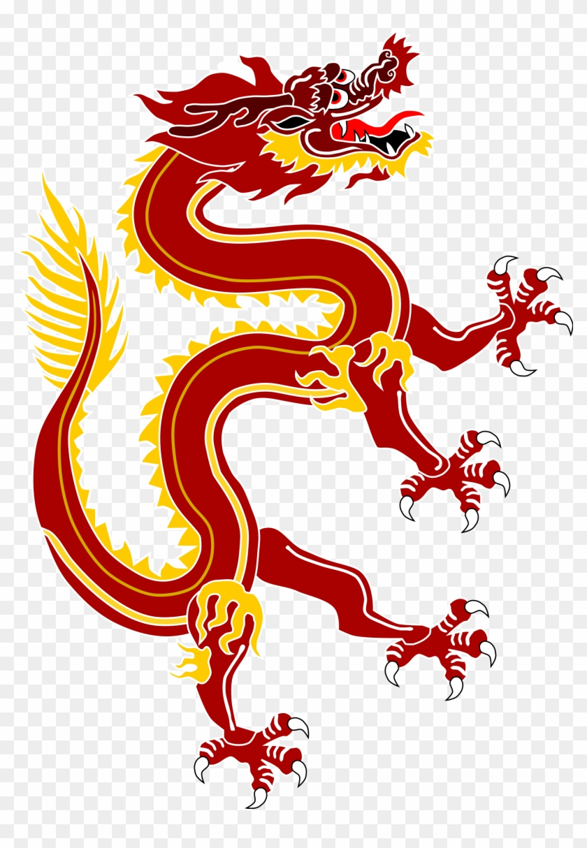 Dragon From Chinese Dragon Banner Red Version - China National Animal Dragon #243402