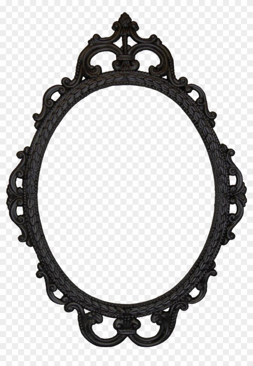 Mirrors, Oval Mirror Black Frame Black Framed Mirror - Frame Svg ...