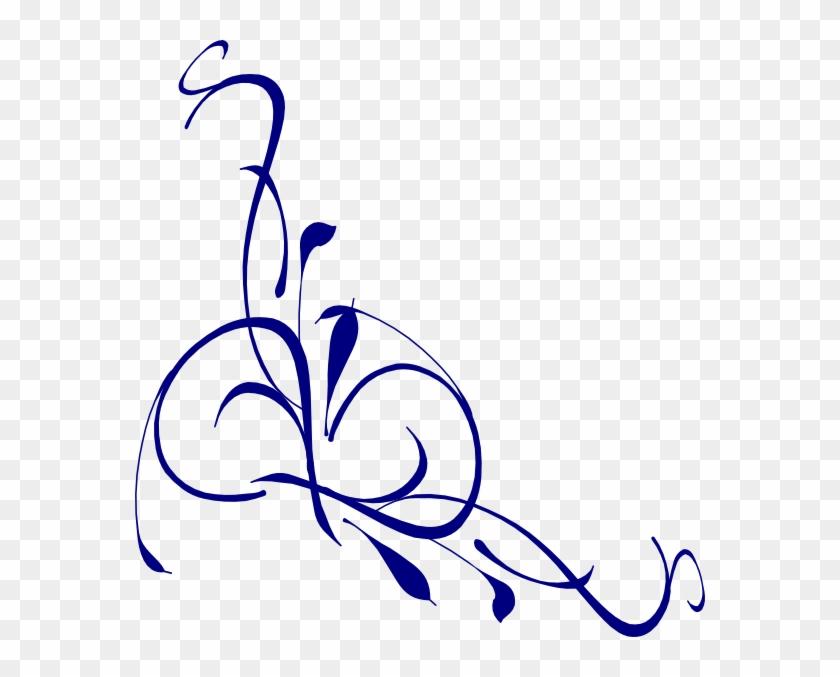 Calla Lily Border Clip Art - Floral Swirl Vector Free #243669