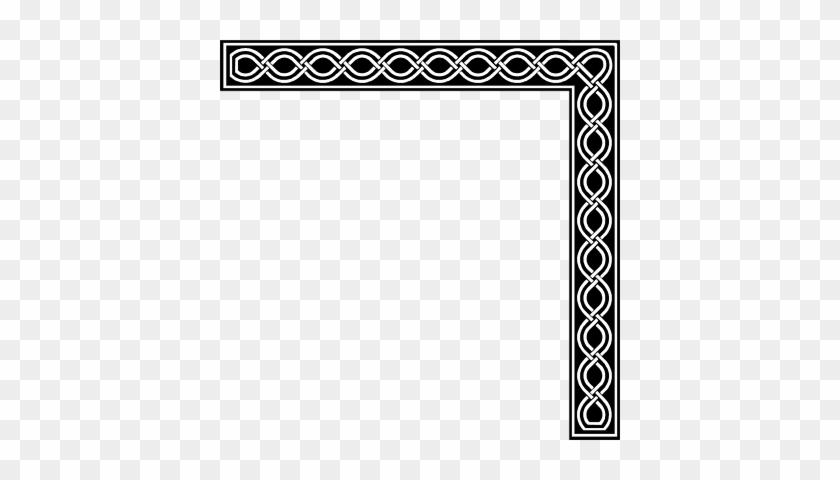 Simple Borderline Design Clipart Free Corner Borders - Hd Corner Border Frame Png #243728