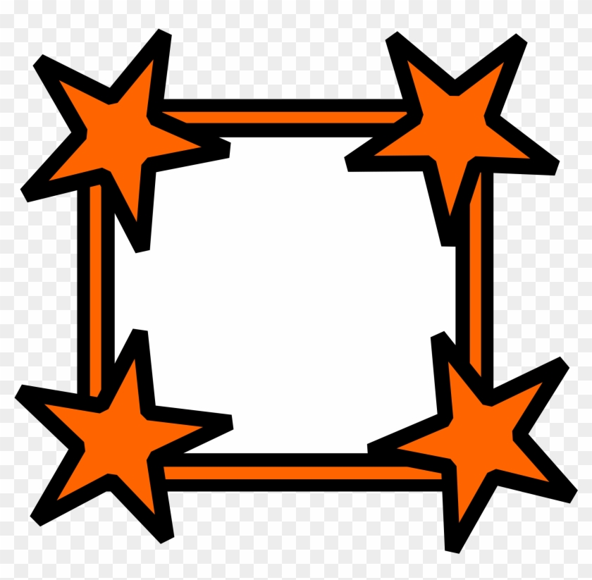 Simple Star Cornered Frame - Portable Network Graphics - Free ...