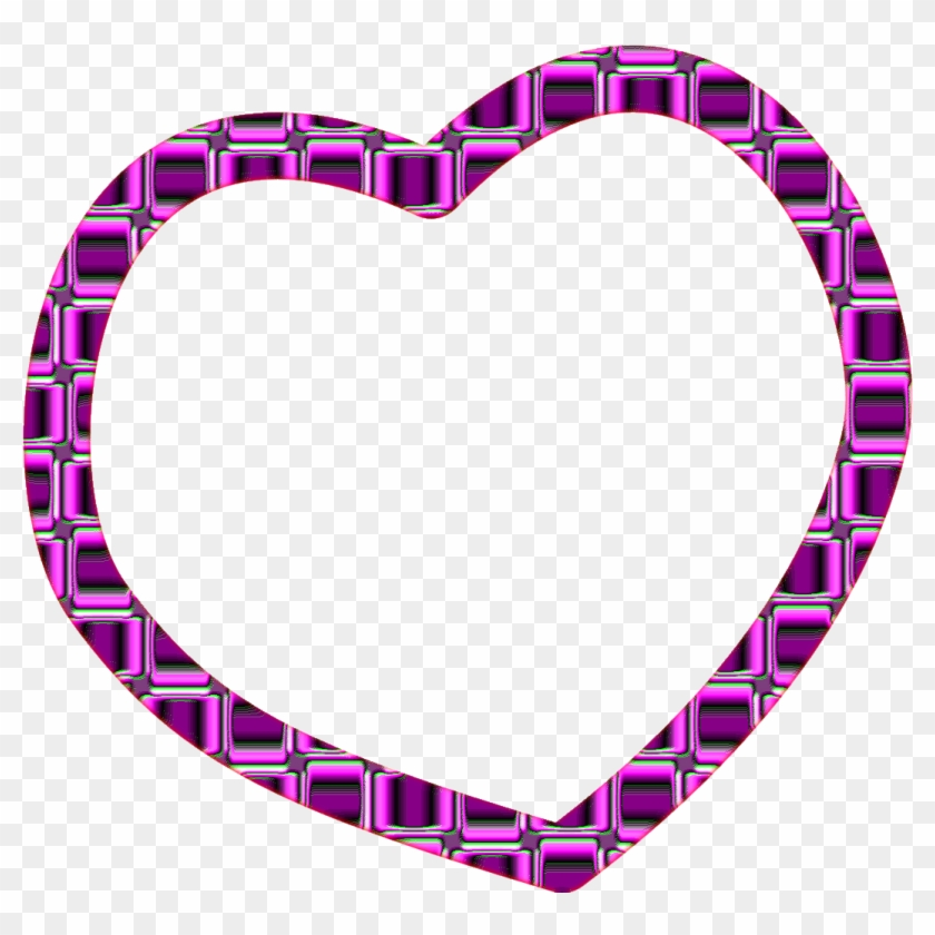 Purple Frame Cliparts - Heart Frame #243821
