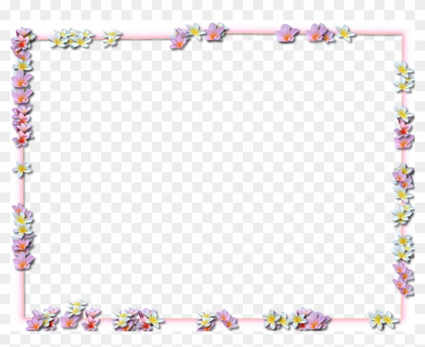 Purple Flowers Borders Png Transparent Png Images - Frame Flower Border Png #243845