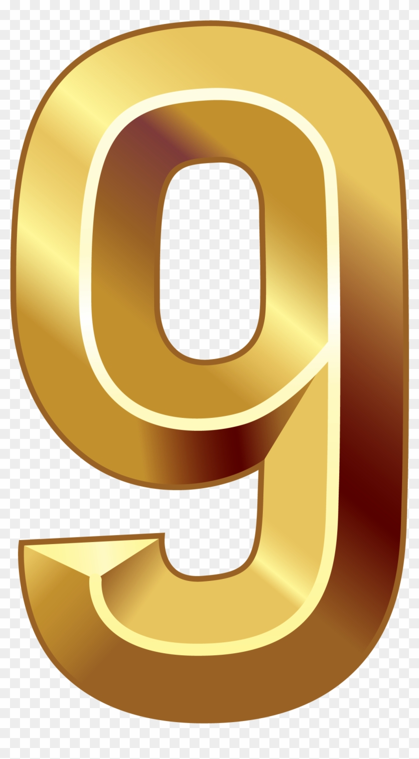 Number Clip Art - Golden Number 0 Png #244098