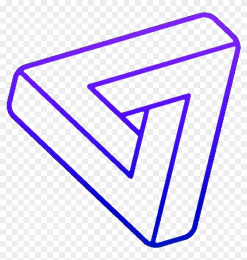 3d $triangle Purple Blue Glowing - 3d $triangle Purple Blue Glowing