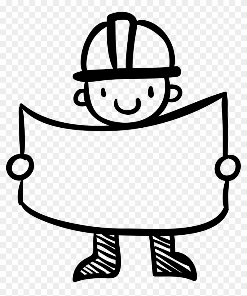 Png File - Hand Drawn Worker #244337