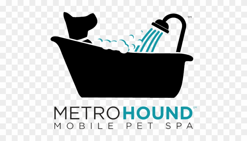 Full-sized Logo, Metrohound Spa, Mobile Pet Grooming - Mobile Dog Grooming Logo #244533
