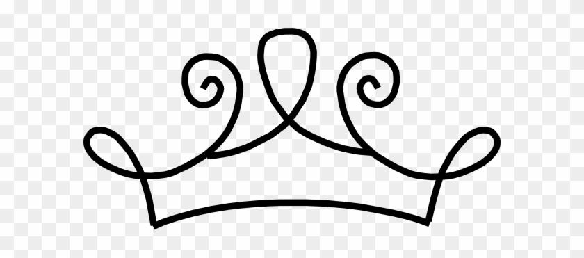 Black Princess Crown Clip Art At Clker - Princess Crown Drawing Png #244567