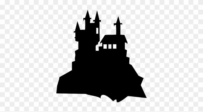 Castle Of Terror Blackboard Sticker - Castillo De Dracula Silueta #244654