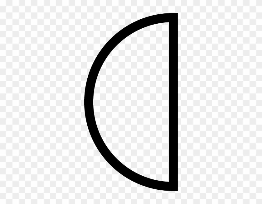 Semi Circle Shape Outline #244726