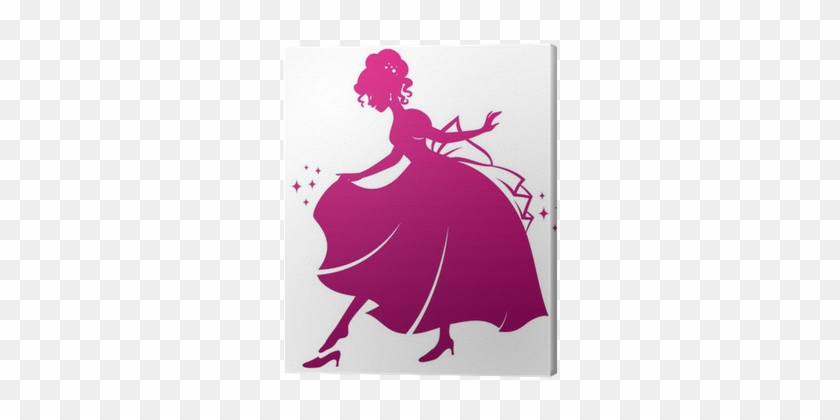 Silhouette Of Cinderella Wearing Her Glass Slipper - Silhouette Of Cinderella Glass Slipper #244756