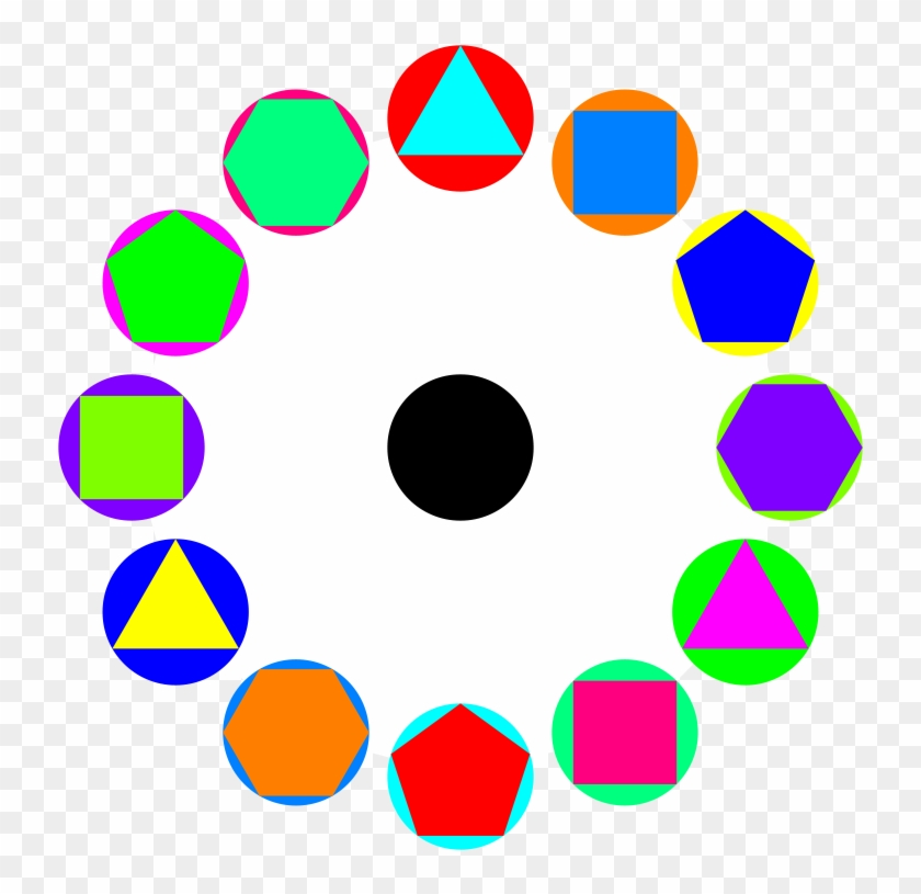 4 Polygons In Circles Rainbow - Bookkeeping Process #245072