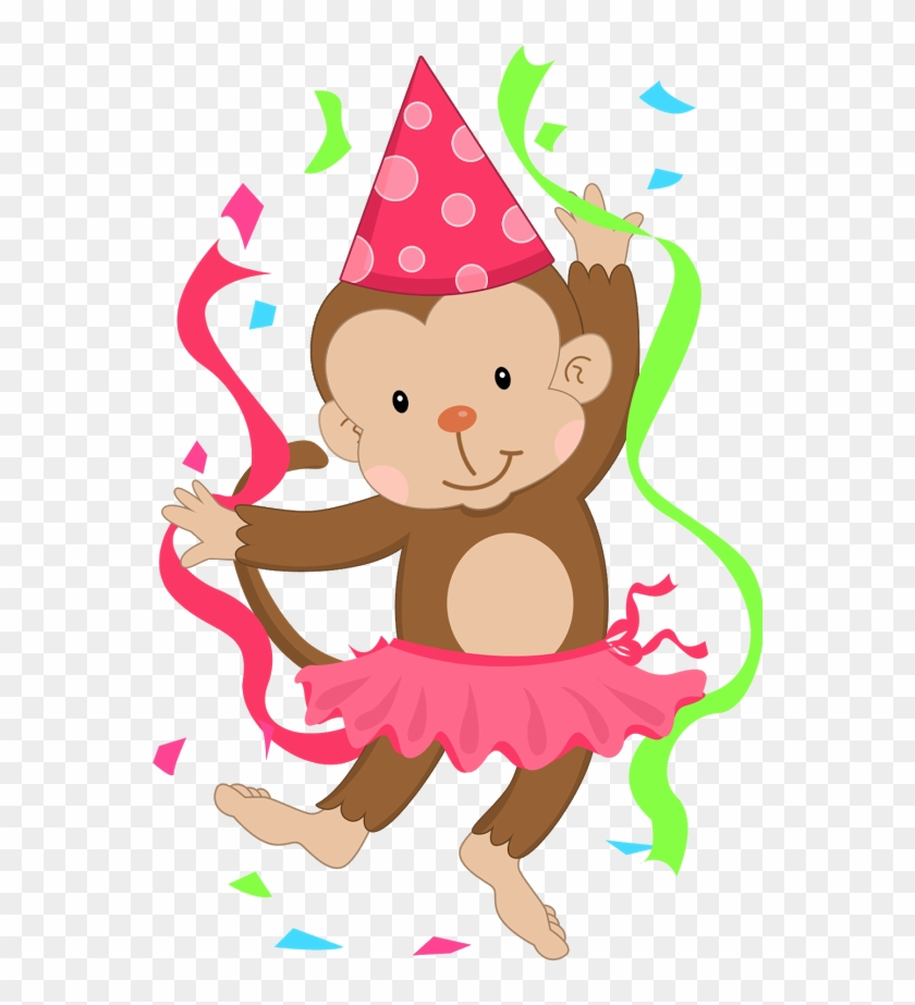 Baboon Clipart Birthday - Girl Monkey Birthday Clipart #245295