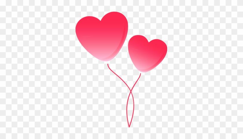 Pink Peas Cliparts - Heart Balloon Clip Art #245344