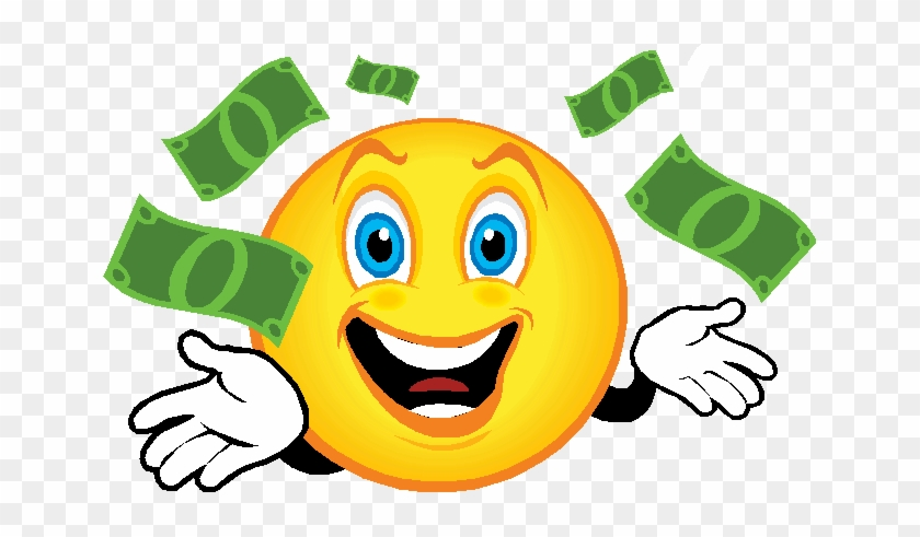 Happy Birthday Smiley Face Clip Art - Smiley Face With Money #245366