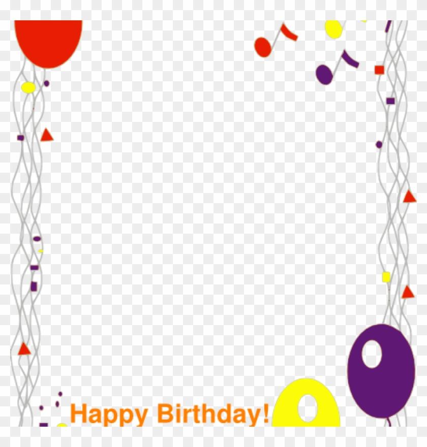 Birthday Border Happy Birthday Border Clip Art At Clker - Balloons Clip Art #245471