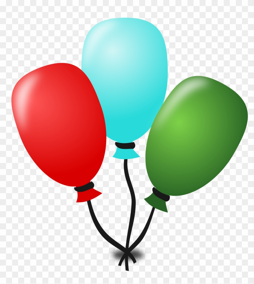 Floating Balloons, Birthday, Party, Event, Holiday, - Birthday Clipart Icon #245610