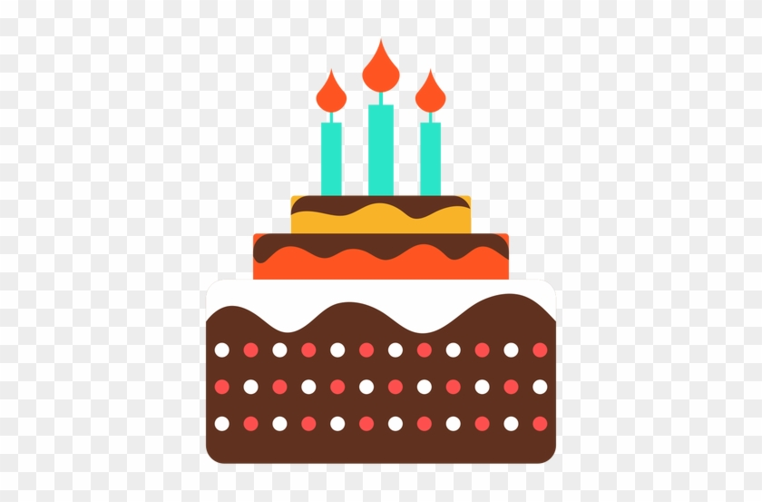 Three Candles Birthday Cake Icon Transparent Png Amazing Happy