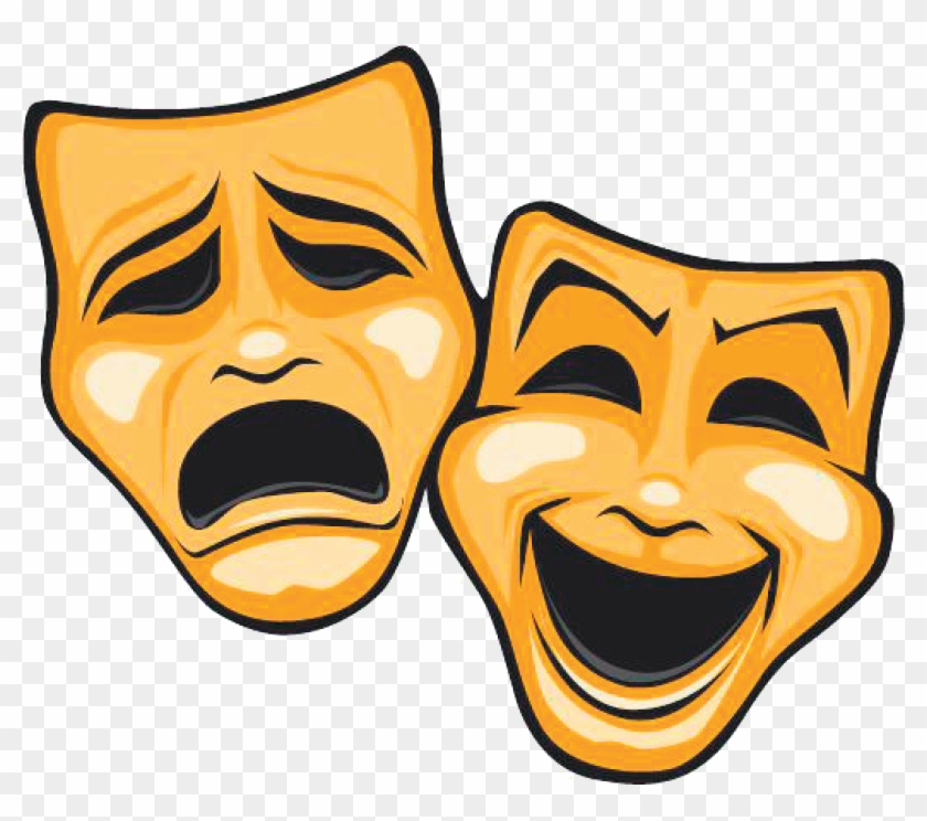 Dinner Theatre Clipart - Theatre Masks Comedy Tragedy #245808