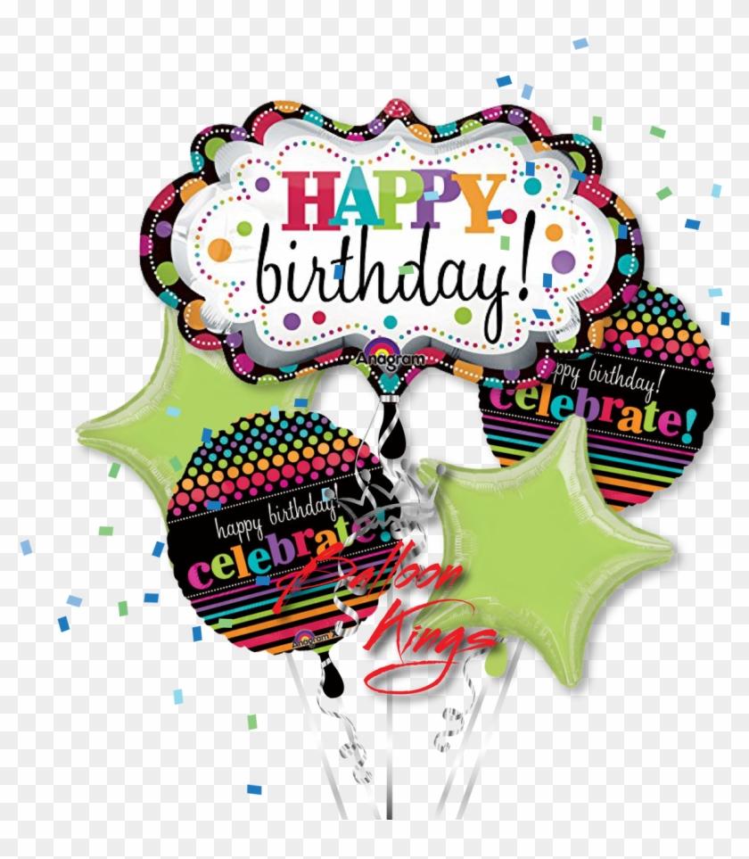 Happy Birthday Marquee Bouquet - Clip Art Happy Birthday Balloons #246104