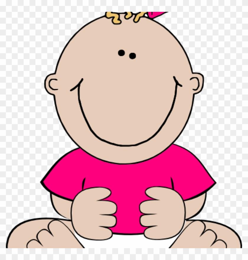 Clipart Baby Girl Pink Ba Girl Sitting 1 Clip Art At - Baby Girl Clip Art #246177