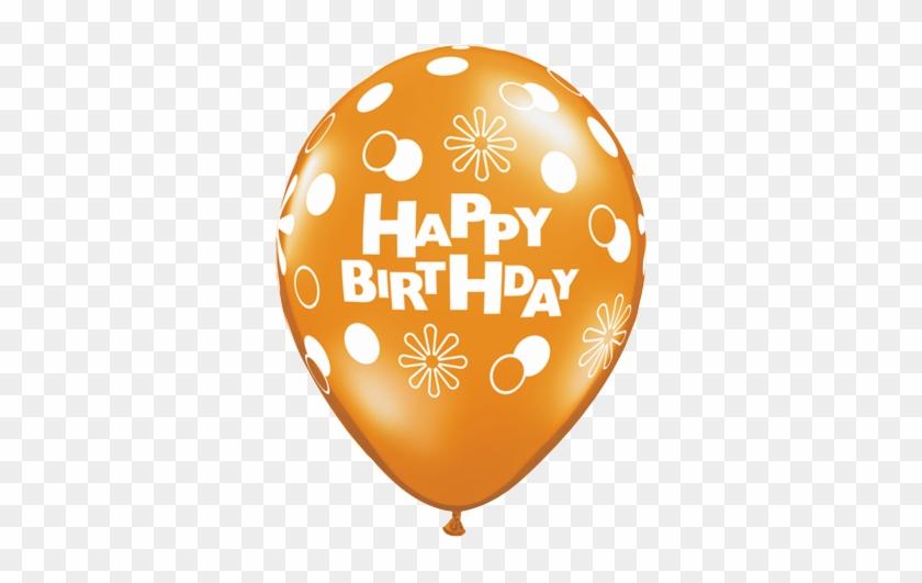 """5 - 11"""" Happy Birthday Polka Dots 100 Latex Balloons #246179"""
