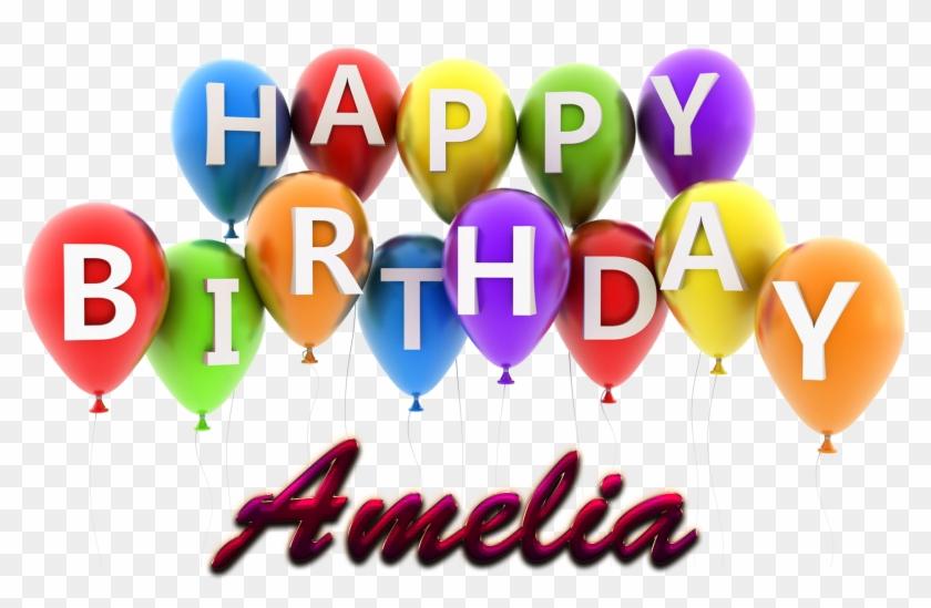 Amelia Happy Birthday Balloons Name Png