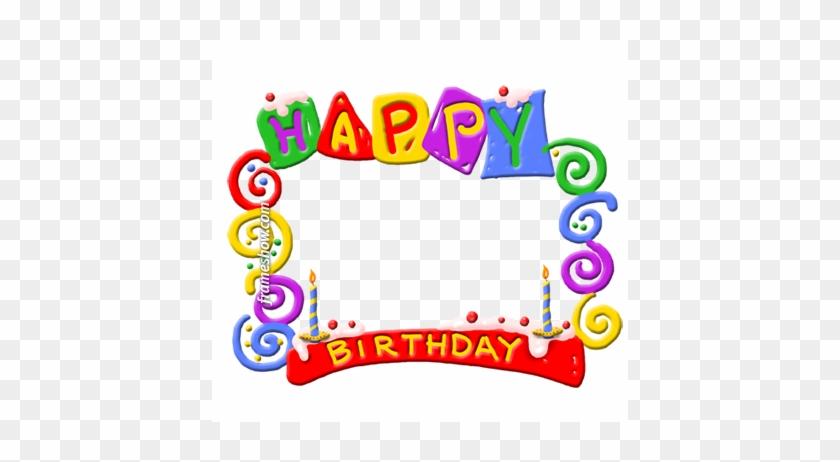 Colorful Happy Birthday Photo Frame E Card Happy Birthday Card