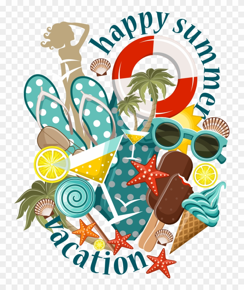 Beach Summer Illustration - Beach Summer Illustration #246353