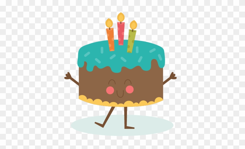 Falling Clipart Birthday Cake Happy Birthday Cute Animation Free
